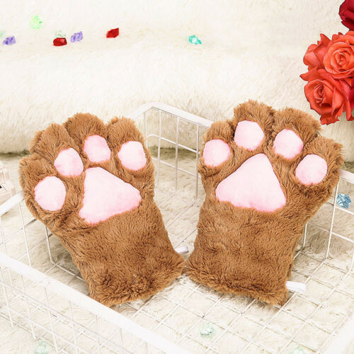 Cat Ear Clip Tail Gloves Paw Bell Maid Lolita Cosplay Prop Accessory Set Lot
