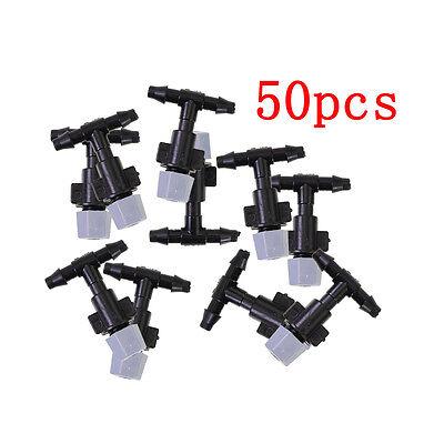 """50 x 1/4"""" Plastic Mist Misting Nozzle Sprinkler for Plant Flower Cooling System"""
