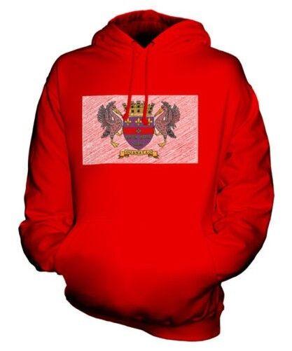 Heiliger Barthelemy Scribble Flag Unisex Kapuzenpulli Top Geschenk