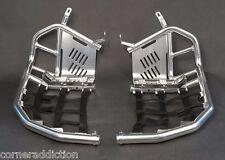 Tusk Nerf Bars w/ Solid Heel Plates YAMAHA YFZ450 Silver/Black Webbing