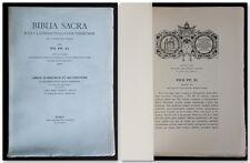 BIBLIA SACRA 3 LIBROS NUMERORUM ET DEUTERONOMII Bibbia 1936 Deuteronomio