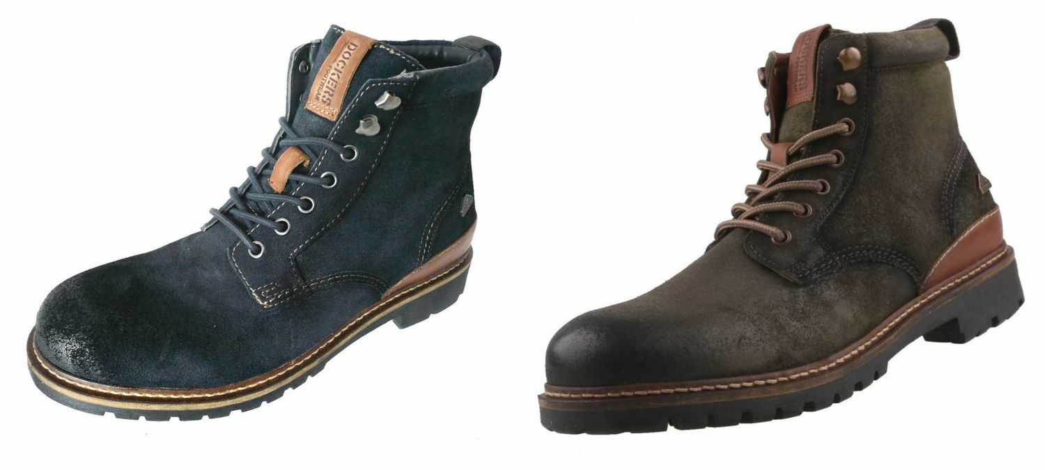 Dockers By Gerli 41BN005 Men's Boots Ankle Boots Navy Olive Sale