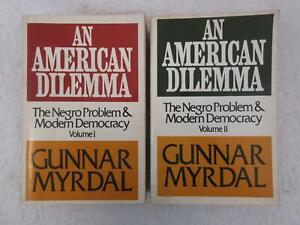 Gunnar Myrdal AN AMERICAN DILEMMA The Negro Problem & Modern Democracy 2 Vol Set
