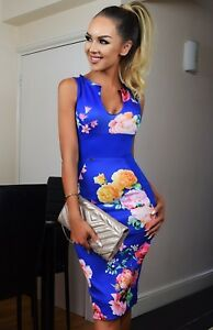 Royal-Blue-Floral-Bodycon-Evening-Illusion-Party-Midi-Occasion-Wiggle-Dress-65