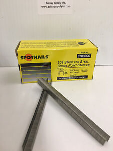 "SPOTNAIL 87006SS 71 staples 3/8"" leg,304 STAINLESS STEEL, sale by 3 boxes/ctn"