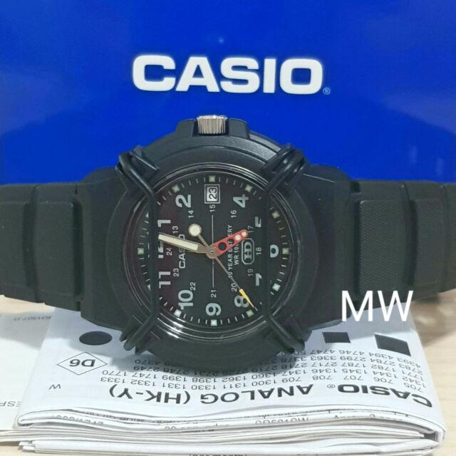NEW Casio HDA600B-1B Mans 100m Analog Sports Watch Date Display 10 Year Battery