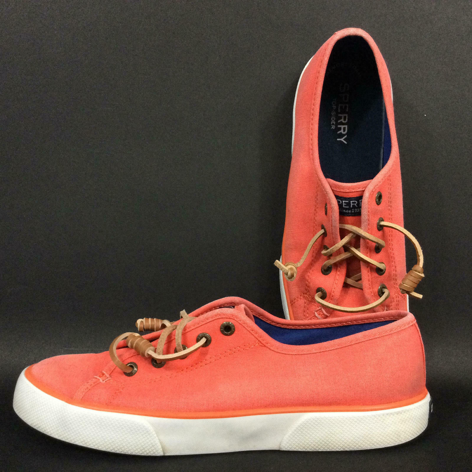 Sperry Women's Size 7(M) Coral Pink Top-Sider Boat Shoes - STS96880 - C16-61432