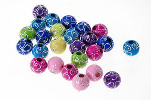 Lot-10-20-pieces-Perle-Fleur-10mm-Creation-bijoux-Bracelet-Attache-tetine