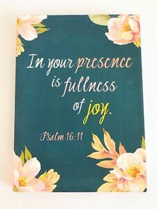 Cb Gift In Your Presence Is Fullness Of Joy Psalm 16 11 Daily Agenda Notebook Ebay
