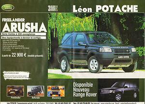 Publicité Advertising 2002  (Double page)  LAND ROVER  FREELANDER