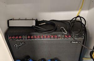fender power chorus guitar amplifier with footpedal ebay. Black Bedroom Furniture Sets. Home Design Ideas