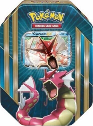 FAST FREE SHIPPING GYARADOS EX Pokemon TCG Triple Power Tin Set BRAND NEW