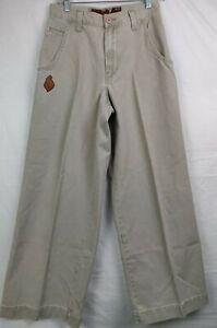 Jnco-Jeans-Men-039-s-Chinos-Beige-Khaki-Style-J125-24-034-Wide-bottom-90s-Size-29x30