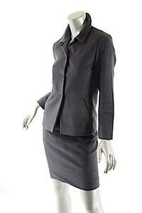 Suit Angorawool Wvoering34us4italy Sander rok Jil Blend Charcoal Flanellen n80mwN