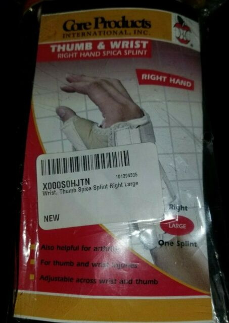 6825 WRIST//THUMB SPICA SPLINT RIGHT LARGE Core Products