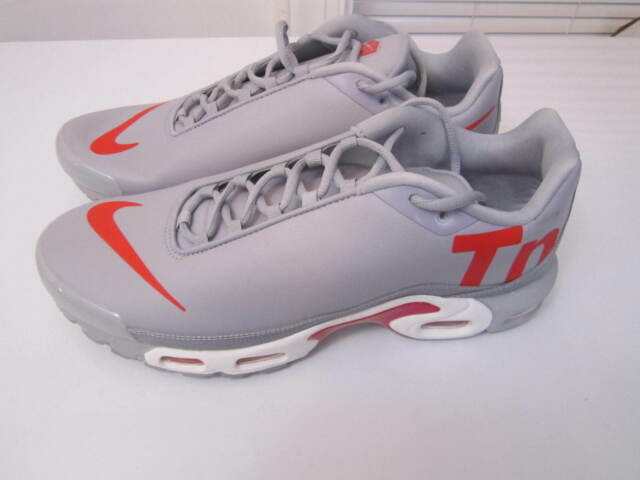 e86e4359dc8 Nike Air Max Plus TN SE Men s Sz 9 Leather Wolf Grey Red Running Aq1088 001