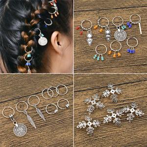 448c6db82a1d9 Details about Fashion Ring Design Hair Braid Dread Dreadlock Beads Clips  Cuff Hair Jewelry