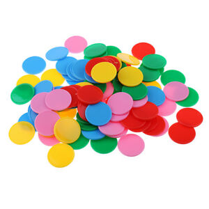 25mm Opaque Plastic Board Game Counters Numeracy Teaching Aid Red Color
