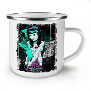 Day Of Dead Emo NEW Enamel Tea Mug 10 oz | Wellcoda