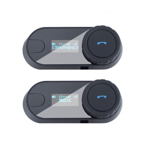 Freedconn Bluetooth Motorcycle Helmet Intercom Headset FM Radio+Soft Earpiece