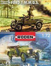VAUXHALL TYPE-D (#735 RODEN) & FORD T M.M.G.S (#102 RPM) WW I BRITISH ARMY CARS
