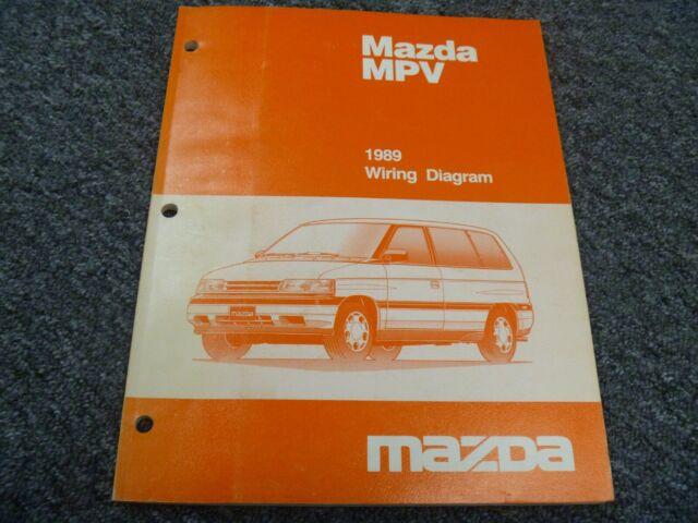 1989 Mazda Mpv Minivan Electrical Wiring Diagrams Manual