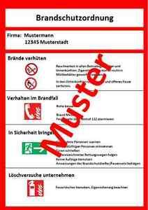 das bild wird geladen brandschutzordnung teil a braende verhueten schild din 14096 - Brandschutzordnung Muster