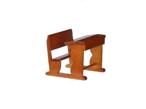 1:12 Schulbank NUSS 7x6,5 cm FL0729 für die Puppenstube Möbel