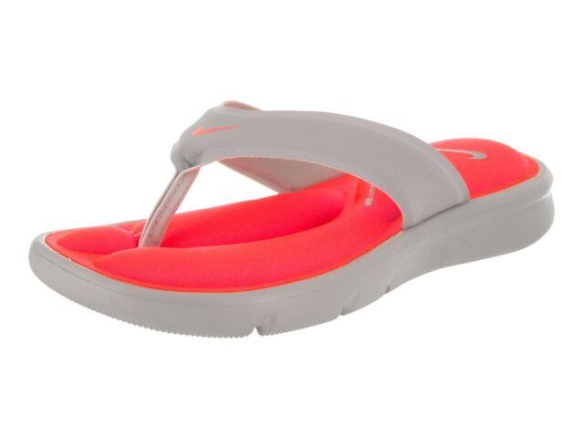 0dacf2bcb9f Nike Women s Ultra Comfort Thong Flip Flops Size 6 HYPER Punch  gray ...