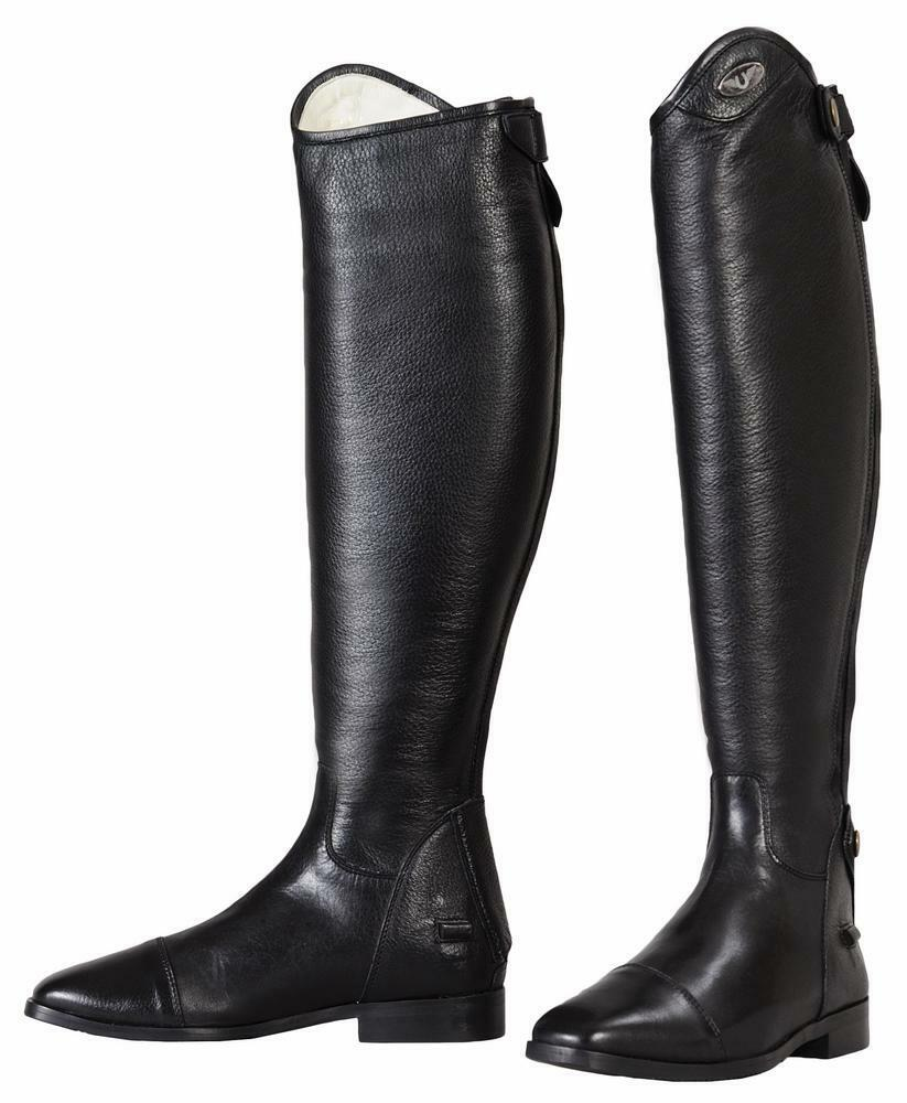 TuffRider Ladies Wellesley X-Tall Dress botas Leather with Spanish Top