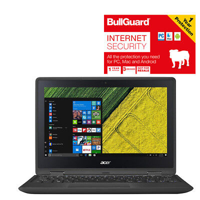 "Acer Spin 1 Touch Convertible Sp111-31 11.6"" Laptop 4gb 32gbWith Bullguard"