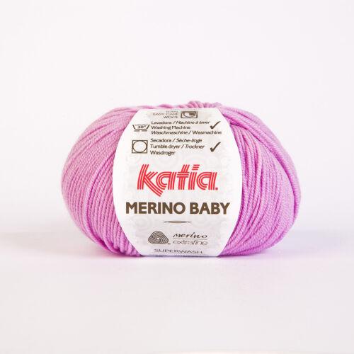 Choix De Couleur * MERINO BABY de Katia MERINO EXTRAFINE 50 g