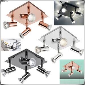 Modern-Square-4-Way-Spotlight-LED-Ceiling-Light-Home-Kitchen-Lighting-Fittings
