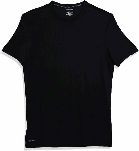 Calvin Klein Men's Ultra Soft Modal Short Sleeve Crew Neck, Black, Size Small 4y