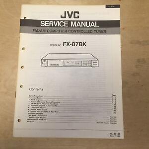 original jvc service manual for fx model tuners owner manual rh ebay com
