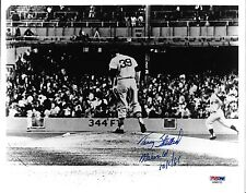 Tracy Stallard Signed Roger Maris Home Run #61 8x10 Photo PSA/DNA COA Autograph