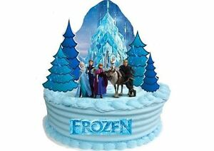 Image Is Loading EDIBLE DISNEY FROZEN Castle WAFER STANDUP Birthday Party
