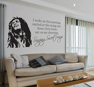 Image Is Loading Bob Marley Sweet Songs Lyrics Quote Music Wall