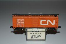 ATLAS  N SCALE #3327 40/' PLUG DOOR BOX CAR CANADIAN NATIONAL #291346
