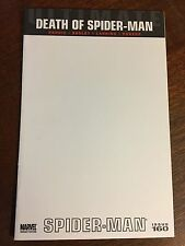 Comic Book - Marvel Ultimate Death of Spider-Man #160 Blank Variant Sketch Cover