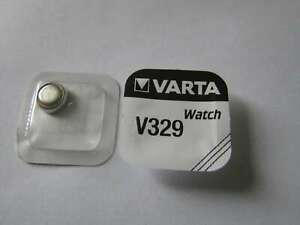 10x V329 Silber-Oxid Uhrenknopfzelle Batterie 1,55V SR731SW Varta