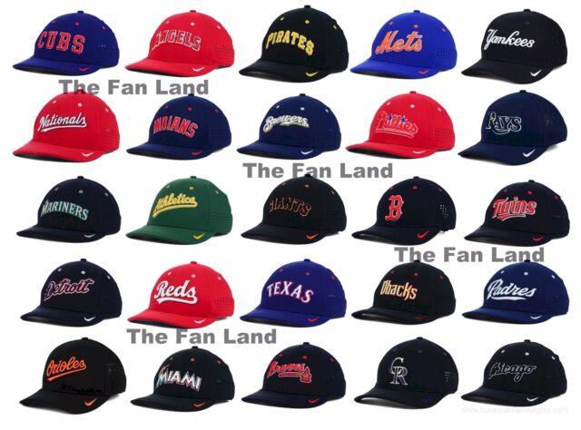 New MLB Nike Vapor Swoosh Dri FIT Technology Mens Flex Fit Cap Hat