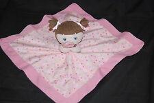 Garanimals Baby My Best Friend Pink  Brown Hair Security Blanket Plush Toy Lovey