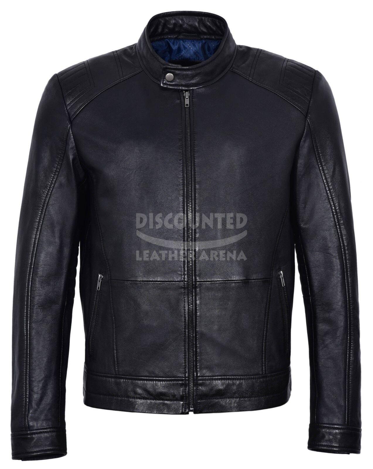Para hombres informal cuero chaqueta chaqueta de motociclista de  moda Negro Deportes Classic Series 4154  artículos novedosos