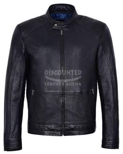 Fashion Series casual Biker nero Classic uomo in 4154 pelle Giacca da Sports wq0UWv