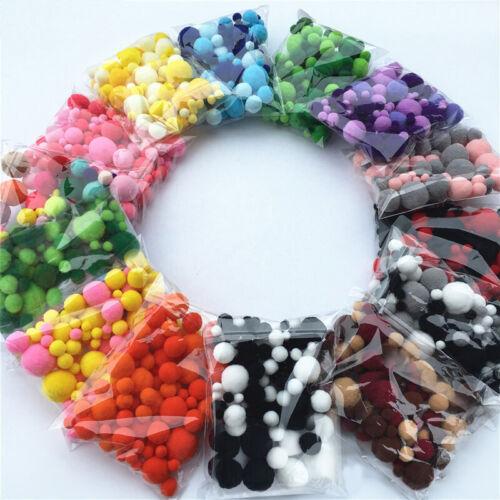 Pompoms Pom Poms Fur Ball Toys Crafts DIY Supplies Wedding Christmas Decoration@