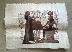 Hand-painted Egyptian Papyrus