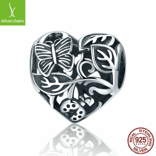 Authentic 925 sterling silver Butterfly Garden Charm for Friedn /& Girl Love Gift