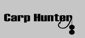 Carp Hunter Karpfen angeln Aufkleber Auto Style Sticker Tuning  JDM Fishing Boli