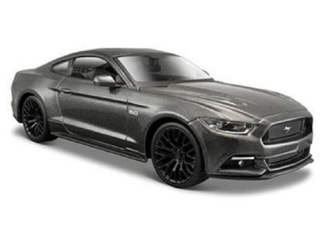 Maisto 1:24 2015 Ford Mustang GT 5.0 Grey Diecast Model Racing Car Vehicle Toy